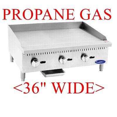 36 Commercial Flat Top Grill Propane Manual Griddle Food Truck Nsf 3 Feet Wide