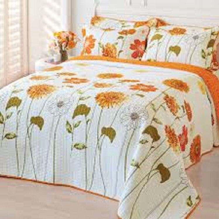 Quilt Sun Shine Sunny Blooms Breathable 100% Cotton Comfy lightweight Bed Cover Bedding
