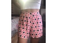 pattern flowy shorts