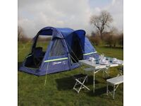 New boxed Berghaus Air 4 person inflatable family tent blue rrp £770