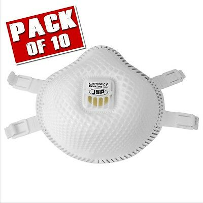 JSP BER130-001-000 832 FLEXINET FFP3 Valved Disposable Dust Mask (Pack of 10)