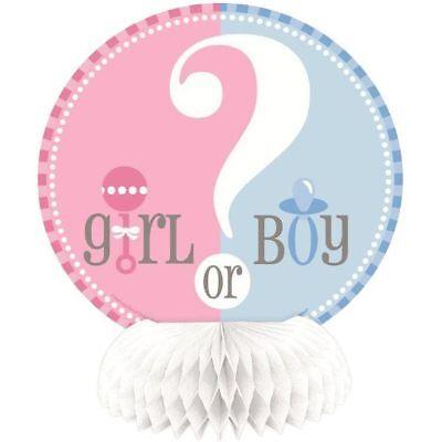 Boy Honeycomb Centerpiece - 4 Pk Gender Reveal ? Honeycomb Centerpiece Decoration Pink Blue Girl Boy 7-9C