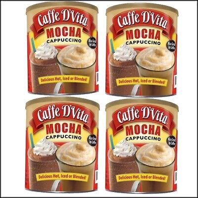 Cappuccino-drink-mix (Caffe D'Vita Hot or Iced Cappuccino Drink Mix, Mocha, 4 lbs - 4 Pack)