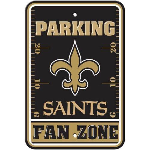 New NFL New Orleans Saints Home Office Bar Decor Parking Sign FAN ZONE 12 X 18  - $13.50