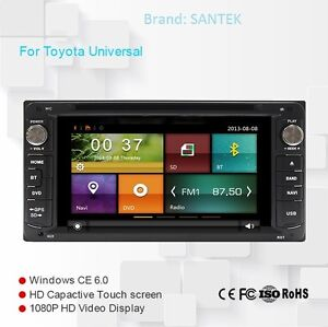 Toyota Universal Car Stereo with Bluetooth Navigation DVD
