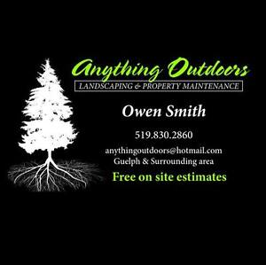 ANYTHING OUTDOORS ~ Landscaping & Property maintenance Services Cambridge Kitchener Area image 1