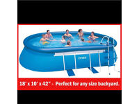 Intex Above Ground Outdoor Inflatable pool