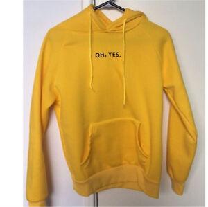 Oh, Yes. Yellow hoodie Ellenbrook Swan Area Preview