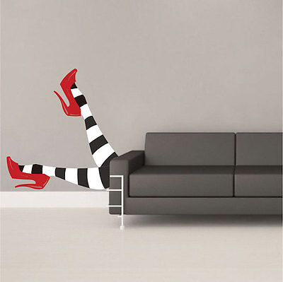 Wicked Witch Legs Wall Decals Wallpaper Funny Halloween Decorations Vinyl, h06](Halloween Witches Wallpaper)