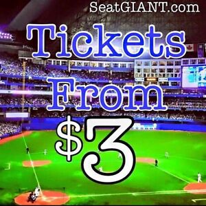 BLUE JAYS TICKETS FROM $3!!! Up to 70% OFF Face Value!!