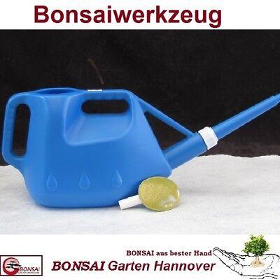 BONSAI Gießkanne 4 Liter Kunststoff mit Metallbrause, blau