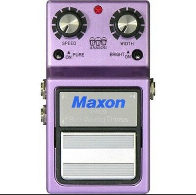 MAXON PAC9 Pure Analog Chorus NEW Guitar Effect Pedal
