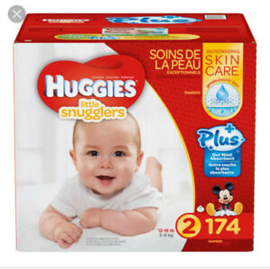 Size two huggies swaddlers