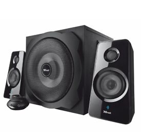 Trust Tytan 2.1 PC Bluetooth Speaker System with Subwoofer, 120 W, UK plug