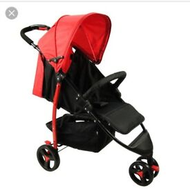 Brand New - Red Kite Push Me Metro Flame Stroller