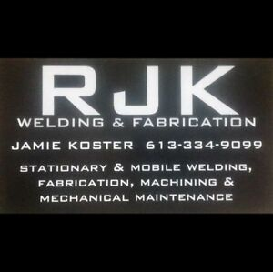 Stationary & Mobile Welding in Bancroft & Area!