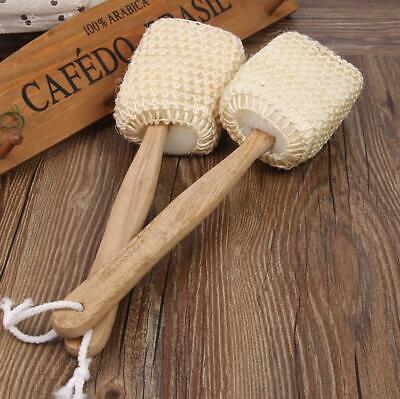 Eco Friendly Bamboo Loofah Wooden Back Scrub Shower Bath Brush
