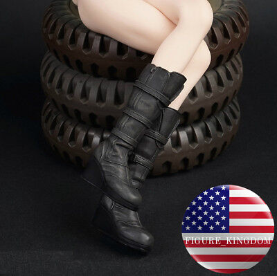 """1//6 Women Ankle Boots Brown For 12/"""" Hot Toys Phicen Kumik Female Figure ❶USA❶"""