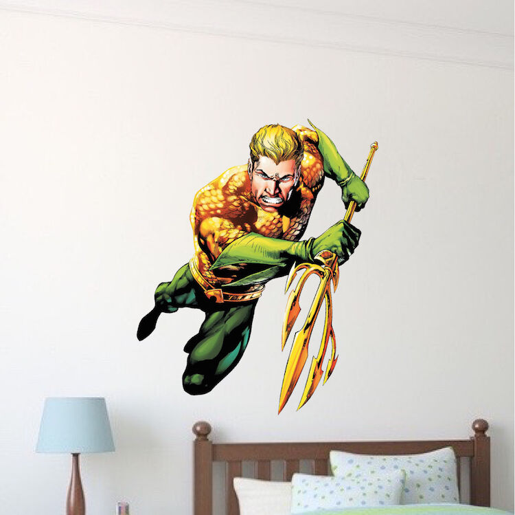 Aqua Man Superhero Wall Decal DC Comic Decals Justice League