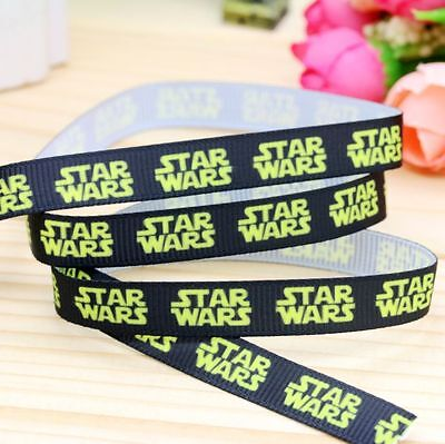"""Star Wars Ribbon 3/8"""" Wide 2m is only £1.29 NEW UK SELLER FREE P&P"""
