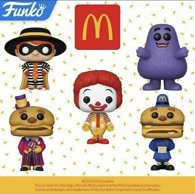 FUNKO POP! AD ICON MCDONALDS COMPLETE SET OF 5 POP FIGURES IN HAND READY TO SHIP