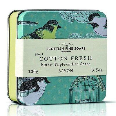 Scottish Fine Soaps Birds Cotton Fresh Soap In A Tin 100G 3 5Oz