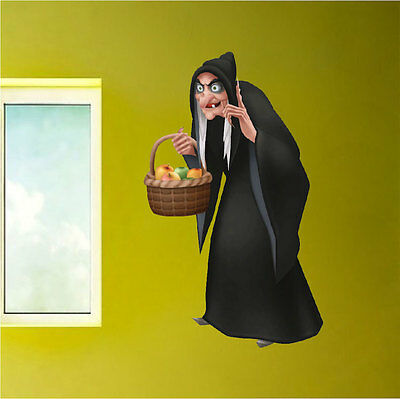 Witch Basket Wall Decals Wallpaper Halloween Snow White Decorations Vinyl, h26](Halloween Witches Wallpaper)
