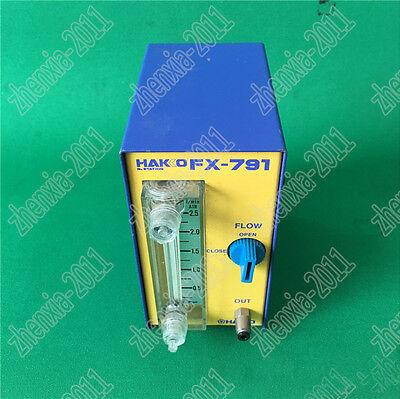 1pc Used White Light Hakko Fx-791 Nitrogen Gas Flow Regulator  1