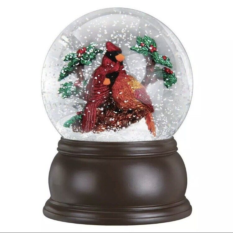 Pair of Cardinals Snow Globe by Old World Christmas 54008