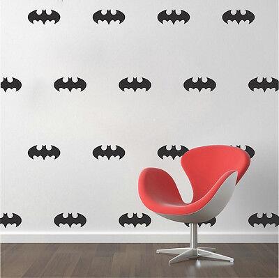 Batman Wall Decal Stickers, Batman Wallpaper Vinyl, Batman Logo Sheet Decals a21 (Batman New Wallpaper)