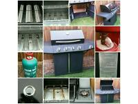 MONTANA 4. 1 BURNER GAS BBQ VERY GOOD CONDITION