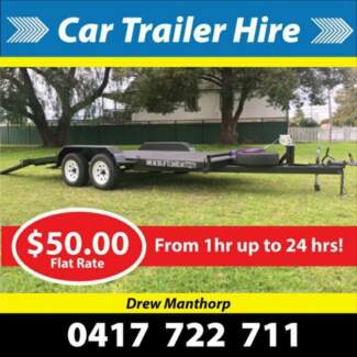 Car trailer hire $50 for up to 24hrs