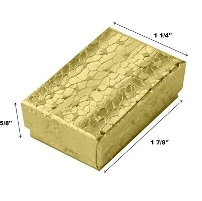 Wholesale 200 Small Gold Cotton Filled Jewelry Gift Boxes 1 78 X 1 14 X 58