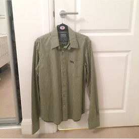 Superdry Green Stripe Men's Shirt size large brand new never been worn