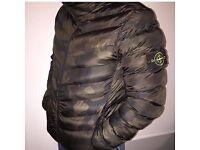 Stone island jacket with hood
