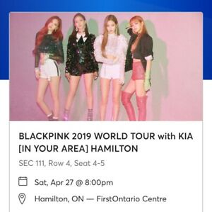 2 BLACKPINK tickets -Apr 27 Hamilton -Amazing seats! Section 111