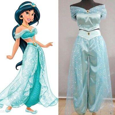 Animation Movie Princess Jasmine Aladdin Adult Cosplay Party Women Costume](Adults Princess Jasmine Costume)