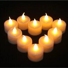 50 LED tea light flameless candles