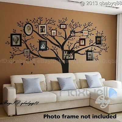 Giant Family Tree Wall Sticker Vinyl Art Home Decals Room Decor Mural Branch Part 92