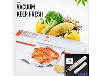 New Food Vacuum Sealer Machine & 15 x Free Bags, Storage Packing Saver Home Kitchen
