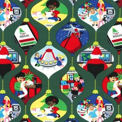 Michael Miller Christmas Fabric GHOSTS OF CHRISTMAS FUTURE- yards - Michael Miller Christmas Fabric