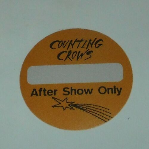 UNUSED OTTO SATIN CONCERT AFTER SHOW ONLY BACKSTAGE PASS COUNTING CROWS TOUR