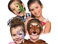 Make Up Kit Face Paints Childrens Plus Brush and Applicator and Sponges New