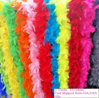 Chandelle Boa Fluffy Feather Trim 40g 6 feet 2 Yards Long Wedding Party Supply 40g Chandelle Feather Boa