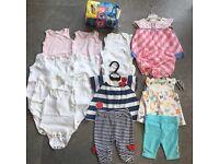 Girls Newborn To Three Months Summer 18 Piece Bundle