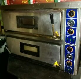large 2 deck pizza oven