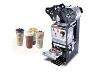 SEMI-AUTOMATIC BUBBLE TEA CUP SEALING MACHINE JUICE CUP SEALER