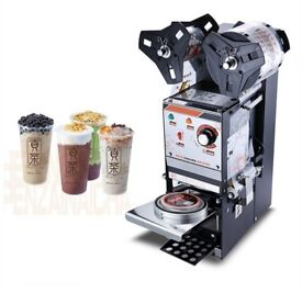Commercial Semi-automatic Bubble Tea Cup Sealing machine Juice Cup Sealer New
