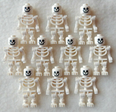 10 NEW LEGO SKELETON LOT halloween minifig minifigure figure pirates castle toy - Halloween 10