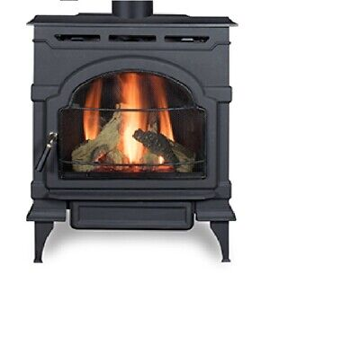 ECO Choice by Heatilator Oxford Direct Vent Gas Stove 28.000BTU Classic Black Classic Stoves Fireplaces